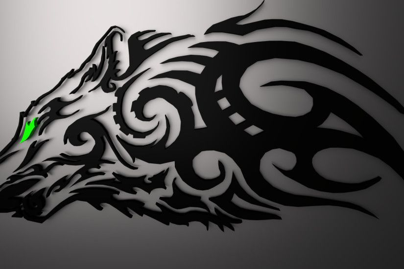 ... Tribal Wolf (Black) Low Polly Render : Blender by Kidus333