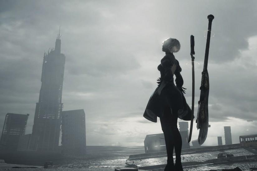vertical nier automata wallpaper 3597x1383 for samsung galaxy