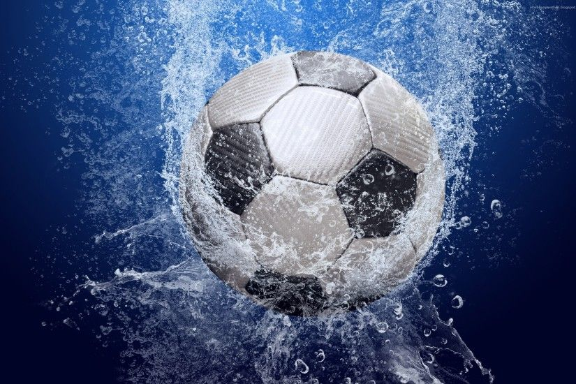 ... desktop wallpapers free Soccer Ball In The Water ...