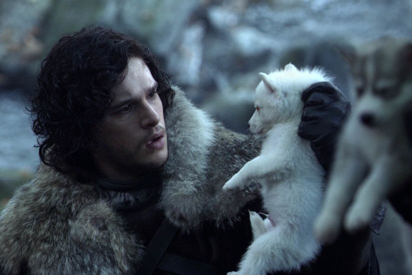 Jon Snow & Baby Wolf - Game of Thrones 1920x1080 wallpaper