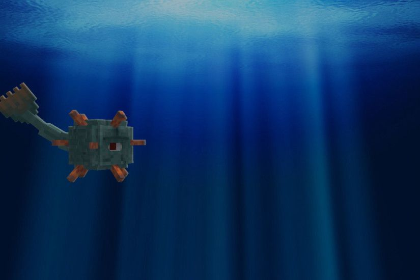 ArtA Minecraft Guardian Background I Made ...