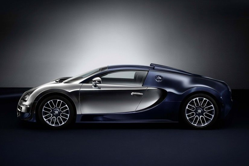 Bugatti Veyron Side View Wallpaper 1869