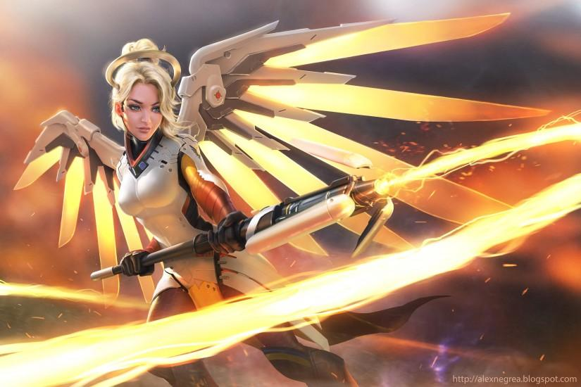 gorgerous mercy overwatch wallpaper 3200x2134 for samsung galaxy