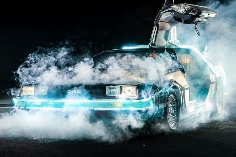 Back To The Future, DeLorean, Time Travel, Car, Movies, Smoke Wallpaper HD