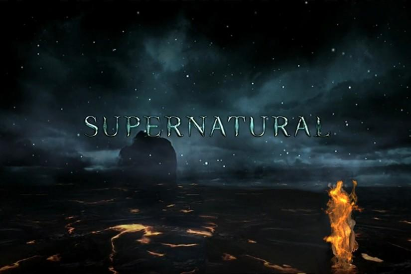 Season 8 Logo Supernatural Wallpaper HD.