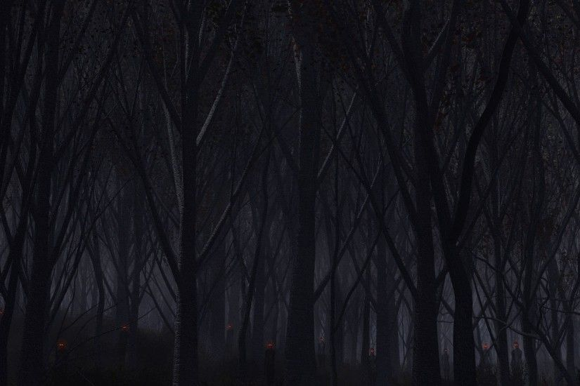 Preview wallpaper forest, trees, background, dark 2560x1080