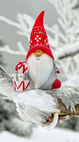 1440x2560 Wallpaper santa claus, christmas, snow, frost