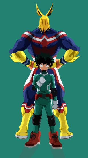 Anime My Hero Academia All Might Izuku Midoriya. Wallpaper 691819