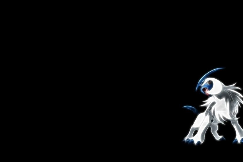 pokemon fractalius absol black background 1600x900 wallpaper Art HD  Wallpaper