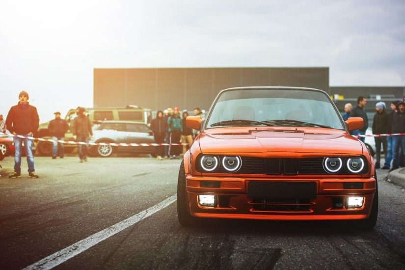 bmw e30 m3 drift car sun ligth front