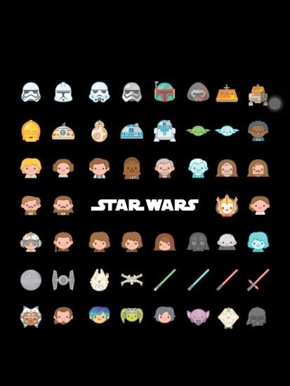 Star Wars emoji background... Follow me for more
