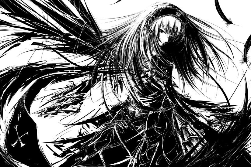 Download Dark Anime Angels wallpaper (2560x1600)