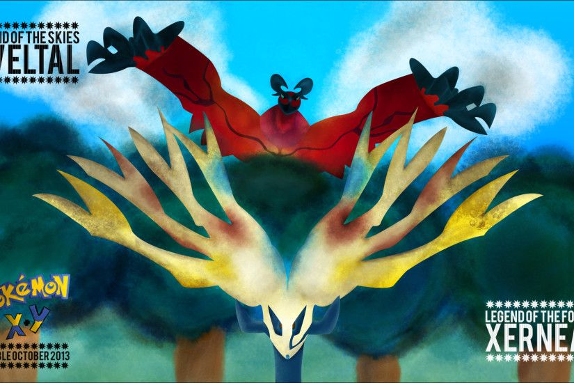 ... Pokemon X and Y: Xerneas and Yveltal Wallpaper by RicGrayDesign