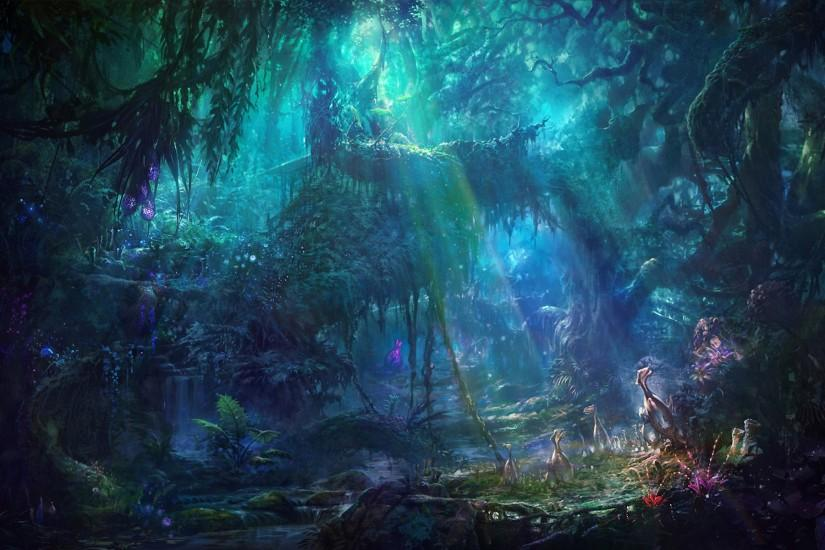 Fantasy Forest Landscape Free Wallpaper