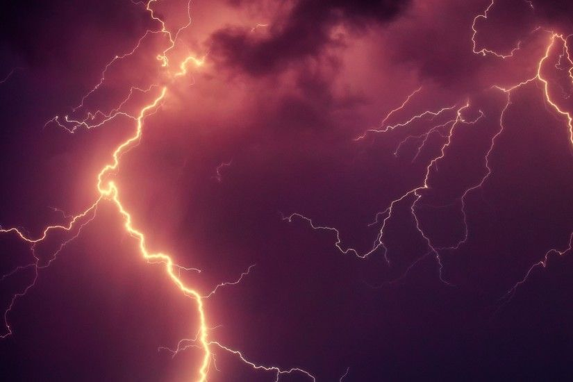 3840x2160 Wallpaper lightning, thunderstorm, sky, cloudy