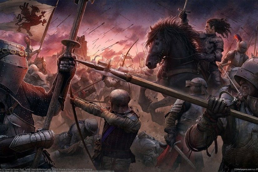 cg wallpapers kerem beyit the battle of sunset medieval style the middle  ages castle knights warriors