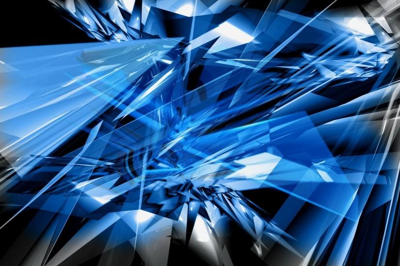 Cool Blue Abstract 4K Wallpaper · backgrounds