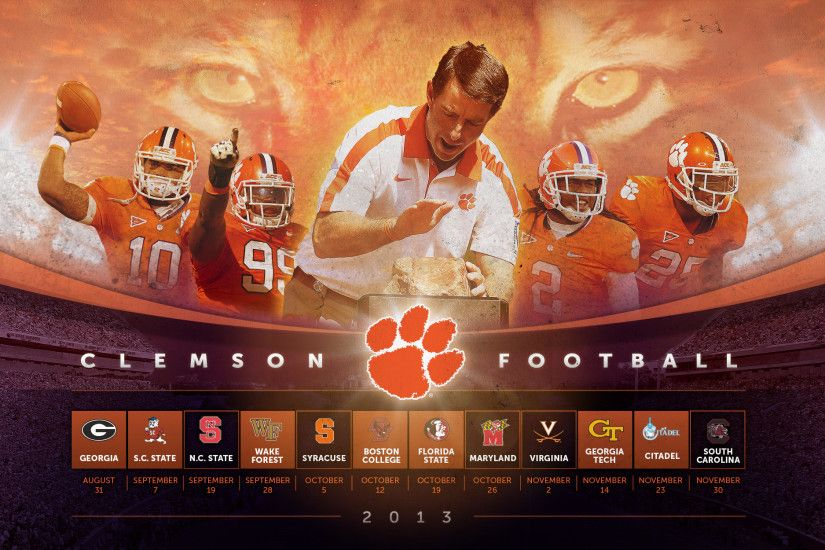 Harley Creative | 2013 Clemson Football Wallpaper