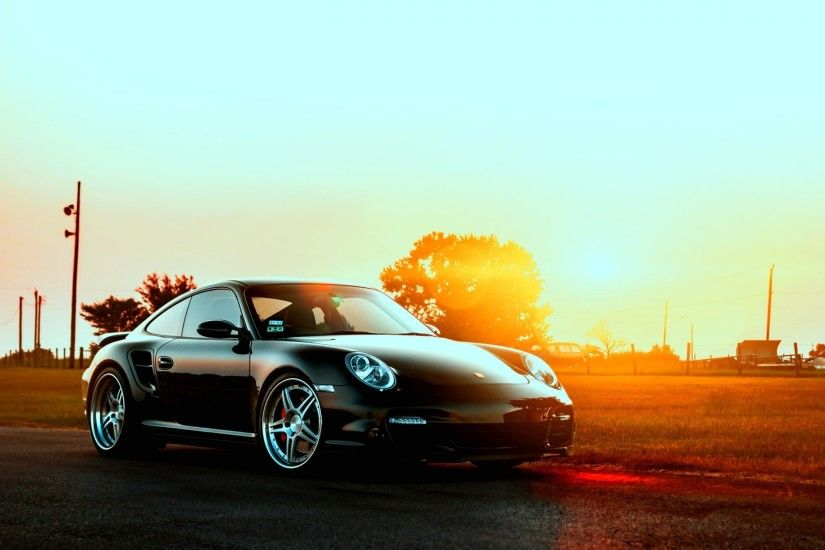 3840x2160 Wallpaper porsche, cars, city, sunset