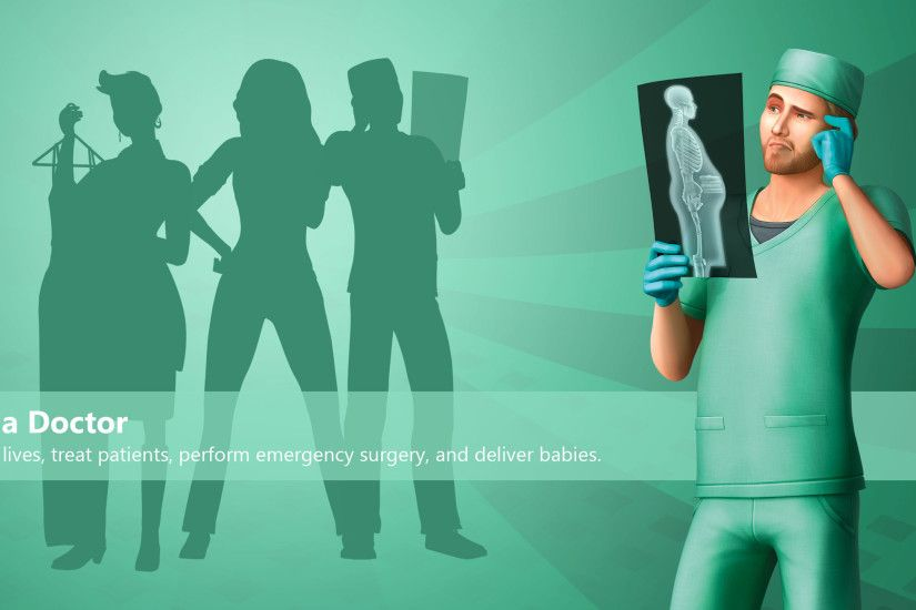 The Sims 4 Wallpaper Get To Work Doctor