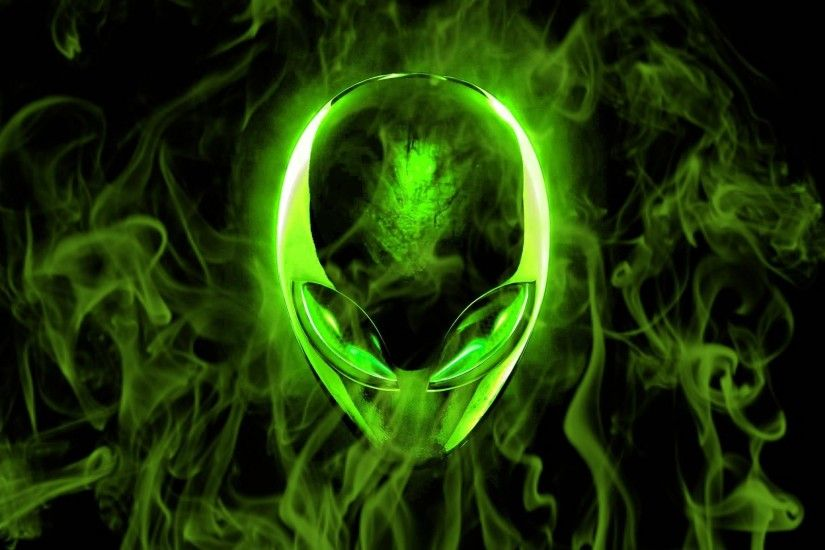 Technology - Alienware Abstract Alien Smoke Neon Green Wallpaper