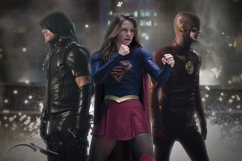 Legends Of Tomorrow Flash Arrow Supergirl · Legends Of Tomorrow Flash Arrow  Supergirl Wallpaper