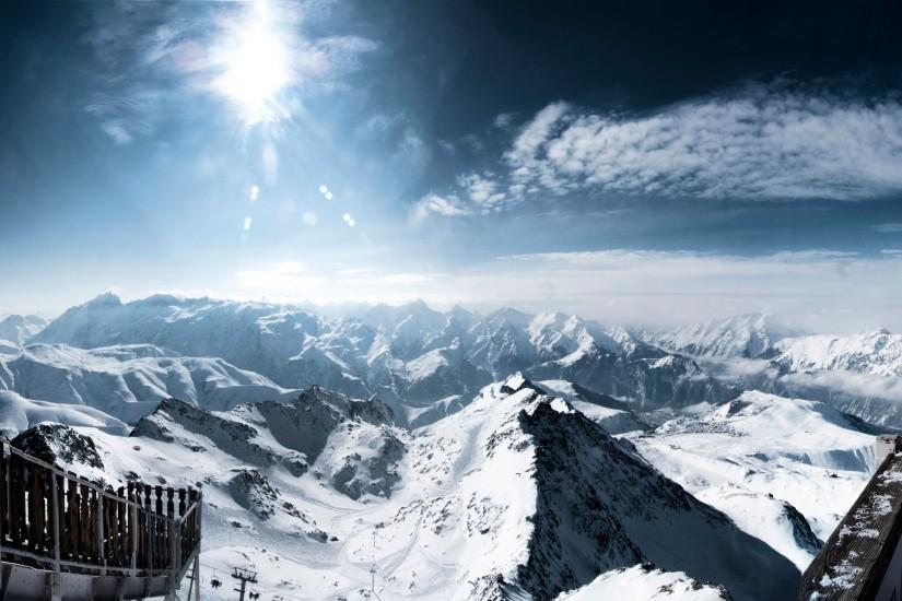 Snowy Mountains Background Download Free.