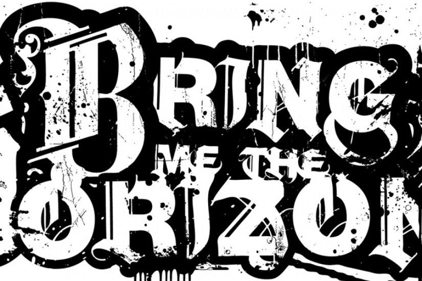 Bring me the horizon text sign graphics spray 3840x1200.