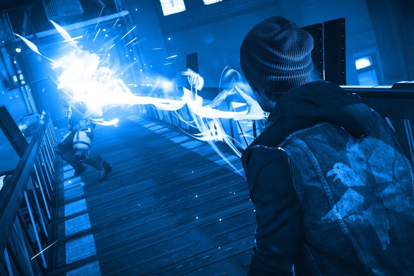 ... Infamous Second Son Blue Neon Wallpaper 13 by XtremisMaster