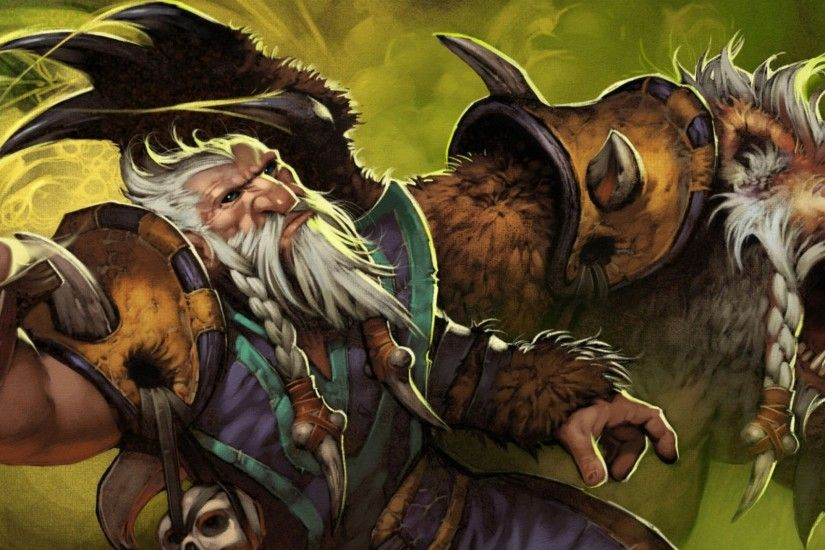 2560x1440 Wallpaper lone druid, dota 2, warrior, bear, art, valve