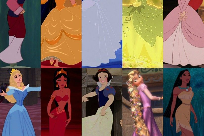 Ten Original Disney Princesses images Dress Collage HD wallpaper and  background photos
