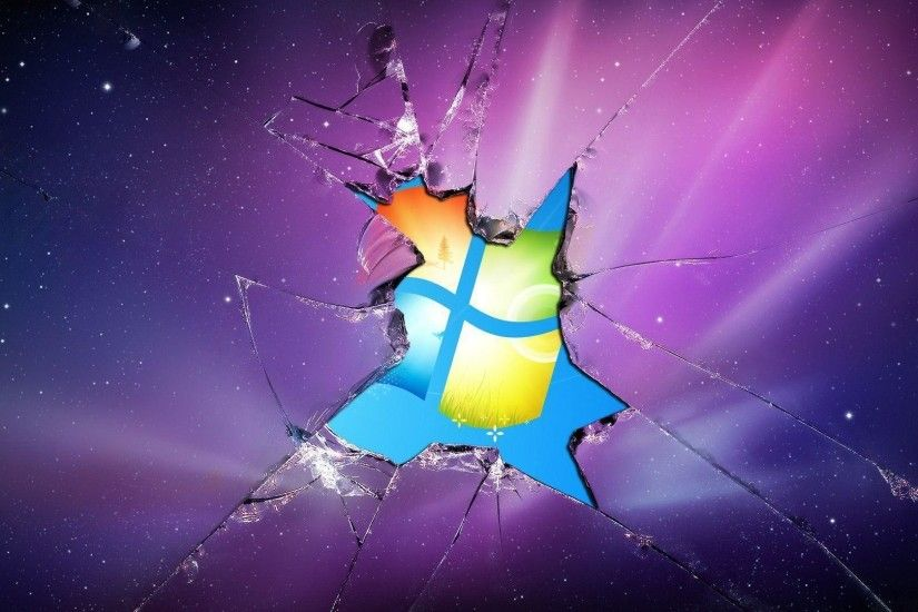 Windows 7 Broken Screen HD Images Wallpaper - HD Wallpapers