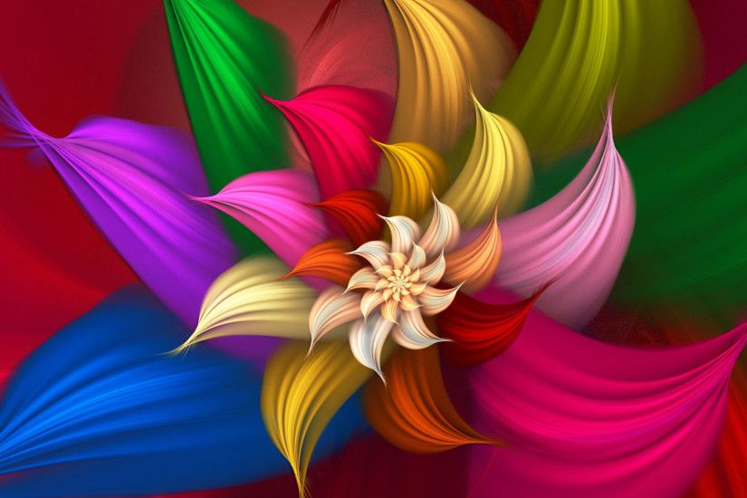 hd pics photos abstract colorful flower wallpaper
