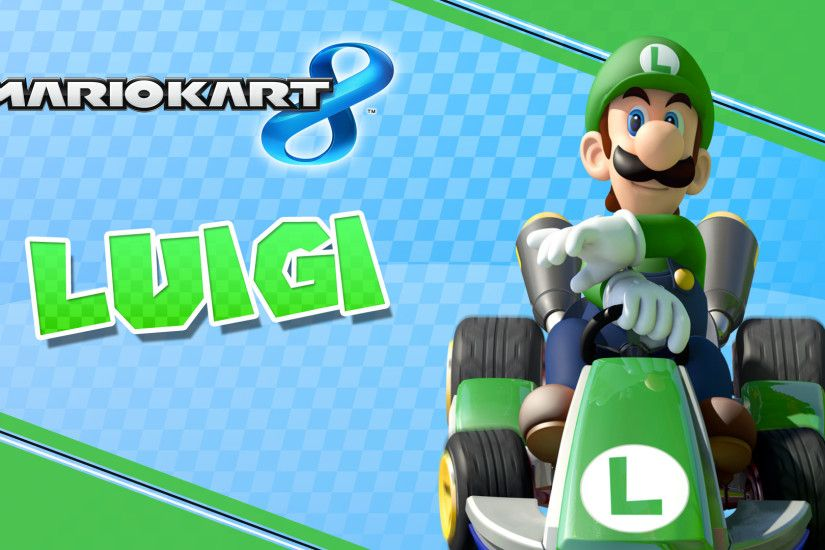 ... Luigi - 1920 x 1080 Mario Kart 8 Wallpaper by MaxiGamer