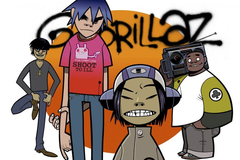Preview wallpaper gorillaz, group, art 3840x2160