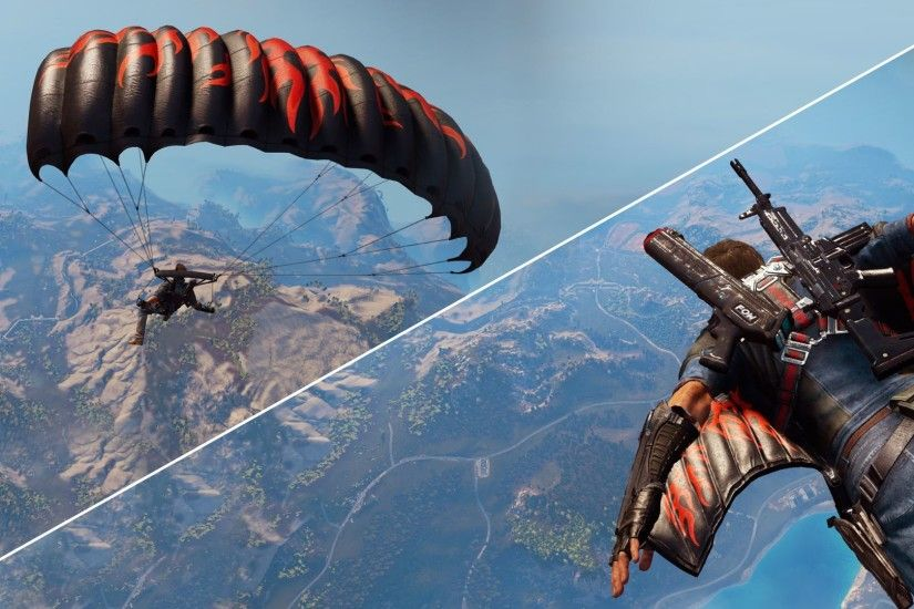 Flame Wingsuit and Parachute Skins Just Cause 3