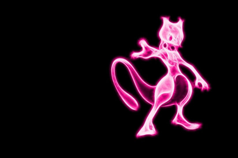 Cute Mewtwo Pokemon HD Wallpaper.
