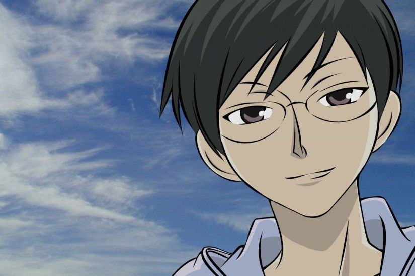 1920x1200 Wallpaper ouran high school host club, ootori kyoya, guy,  glasses, sky