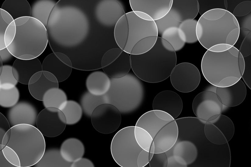 Black And Gray Bubbles Background
