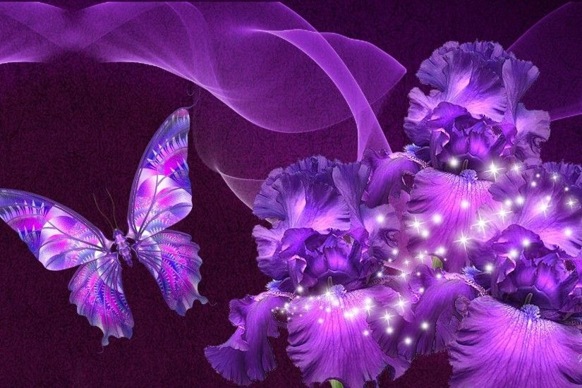 Beautiful Purple Flowers Background