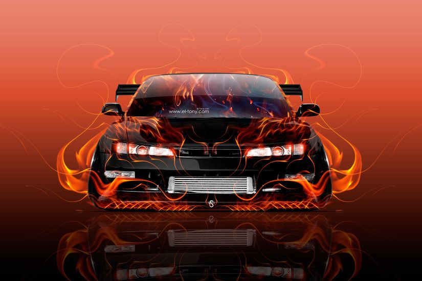 ... Nissan Silvia S14 JDM Tuning Front Super Fire Car 2016 Wallpapers el  Tony Cars