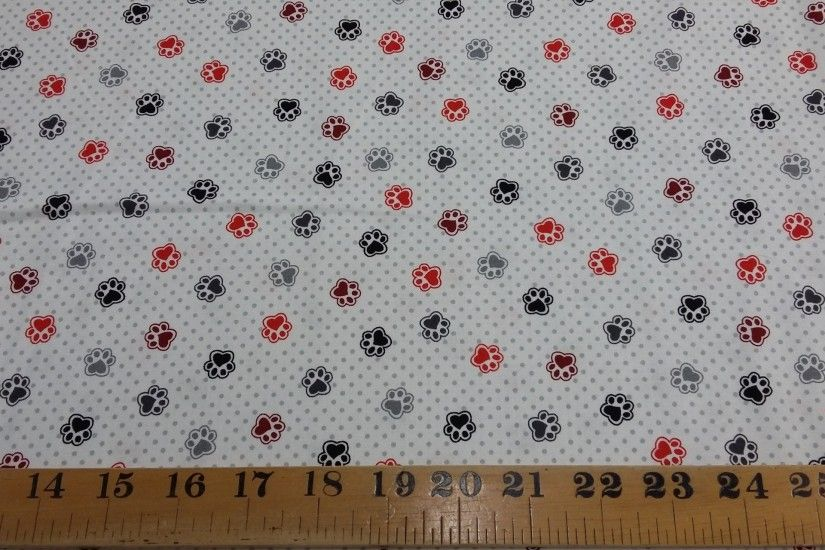 R61 Scotty dog 3 paw prints - 1/4mtr