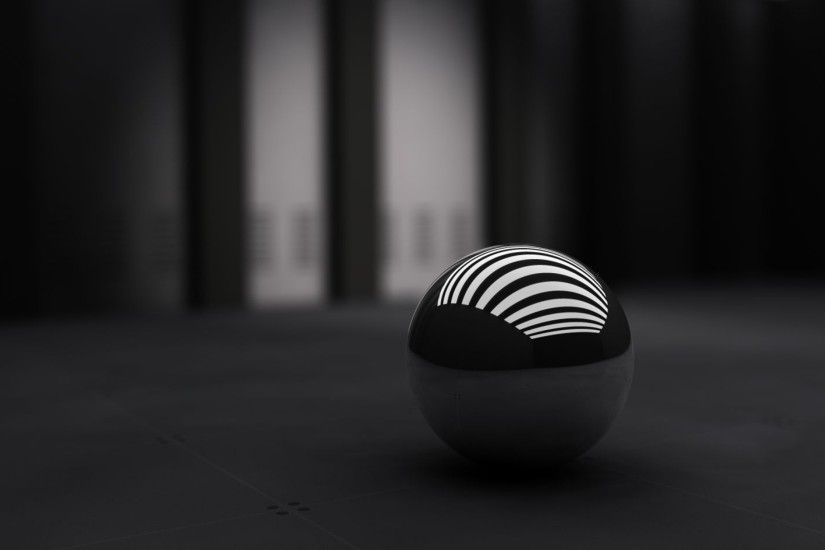 Preview wallpaper black, ball, band, white 3840x2160