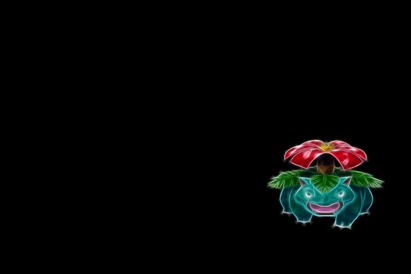 003 venusaur - fractal pokemon wallpapers