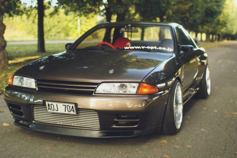 cars roads tuning tuned Nissan Skyline R32 GT-R stance JDM Japanese  domestic market jdm