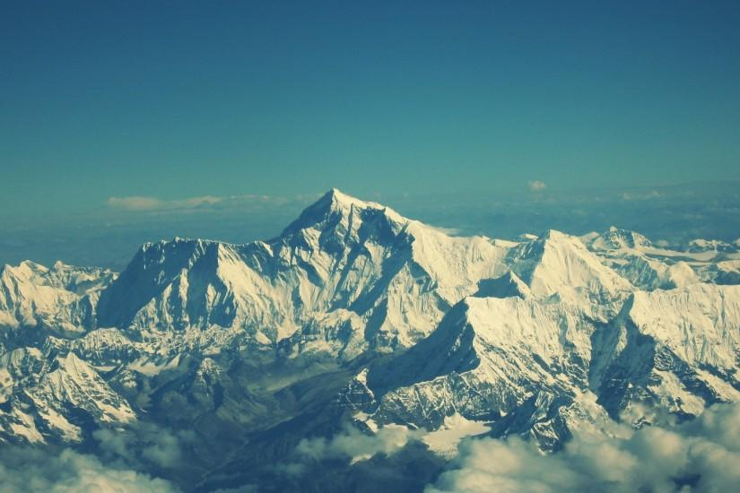 Preview wallpaper everest, mountain, sky, tops 1920x1080