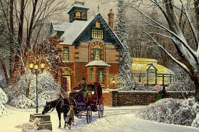 Photo Collection Wallpaper For Desktop Victorian Christmas House