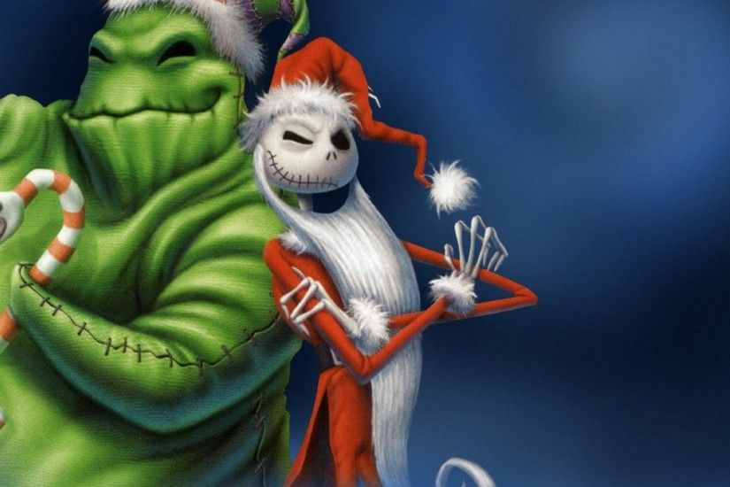 Oogie Boogie And Jack Skellington The Nightmare Before Chr Cartoon Hd  Wallpaper