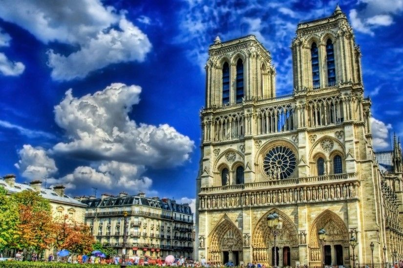 ... Notre Dame HD desktop wallpaper : Widescreen : High Definition ...  Beautiful Cathedral ...