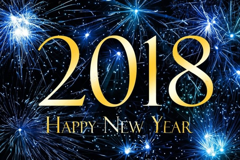 Holiday - New Year 2018 Holiday New Year Blue Fireworks Happy New Year  Wallpaper